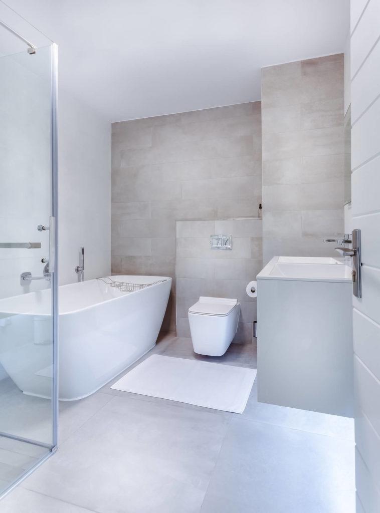 natuursteen in badkamer